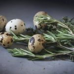 Quail eggs with rosemary